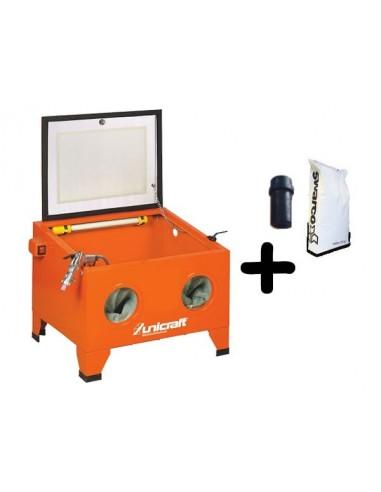 Promo KIT SSK1 Sabbiatrice 6204000 + Ugello 6204132 + Micro Sfere Vetro UV25