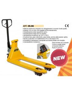 LTF Transpallet sollevatore manuale con bilancia pesa elettronica - portata kg 2500