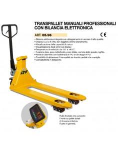 LTF Transpallet sollevatore manuale con bilancia pesa elettronica e stampante - portata kg 2500