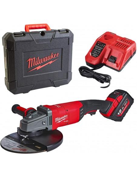 Milwaukee Smerigliatrice Angolare M18 FUEL FLAG230XPDB-121C+ Batteria M18 12AH + Caricabatterie + Valigetta