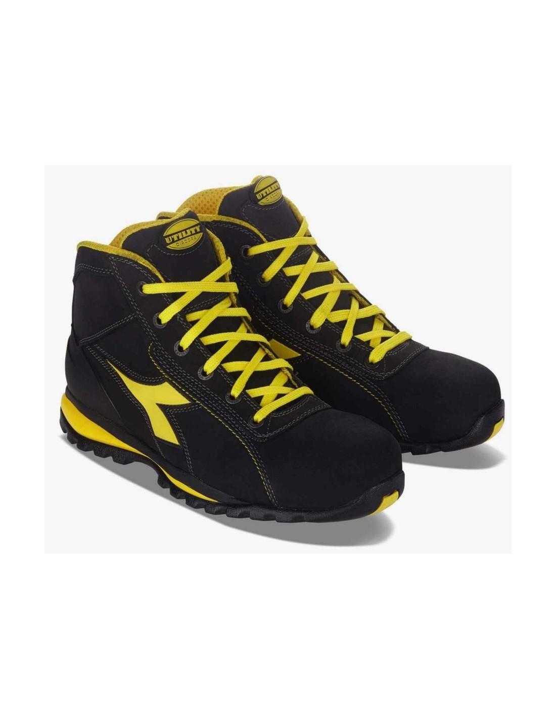 Scarpe antinfortunistiche Diadora Glove II S3 alte colore nero