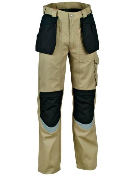 Pantalone da lavoro Cofra Carpenter Estivo color corda/nero