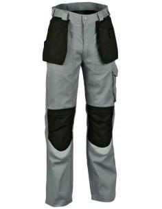 Pantalone da lavoro Cofra Carpenter Estivo color grigio/nero