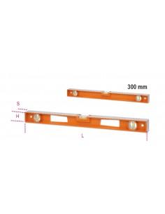Livelle in alluminio pressofuso con impugnature, (tranne la versione da 300 mm) 4 basi rettificate 3 fiale infrangibi 016960353