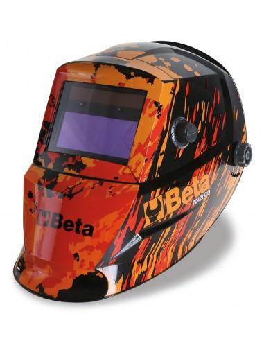Maschera LCD ad oscuramento automatico, per saldatura ad elettrodo MIG/MAG TIG e plasma. Alimentazione a celle sola 070420001