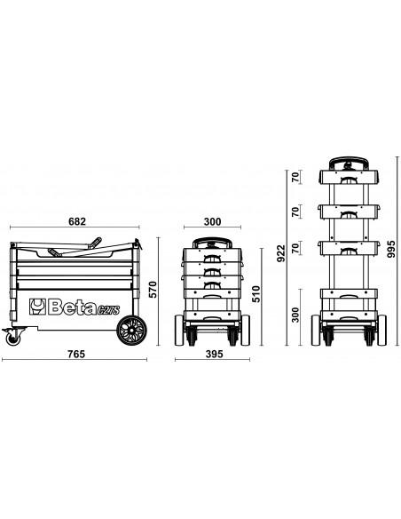 Beta C27S Carrello portautensili industry richiudibile