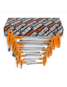 Serie di 13 chiavi maschio piegate con impugnatura per viti con impronta Torx(R) 97TTX/S