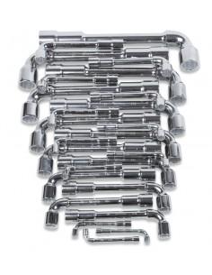 Serie di 25 chiavi a pipa doppie esagonali-poligonali (art. 932) 932/S