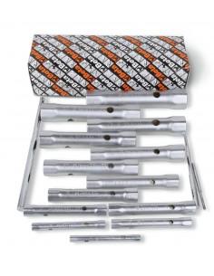 Serie di 13 chiavi a tubo doppie esagonali serie leggera (art. 935) 935/S