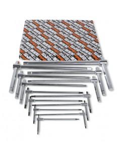Serie di 14 chiavi a T con tre estremità maschio esagonale (art. 951) 951/S