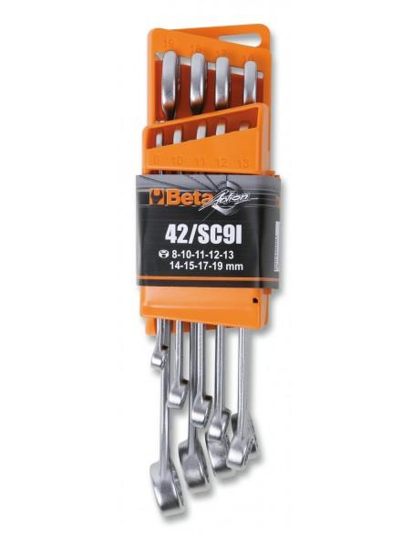 Serie di 9 chiavi combinate con supporto compatto 42/SC9I-E