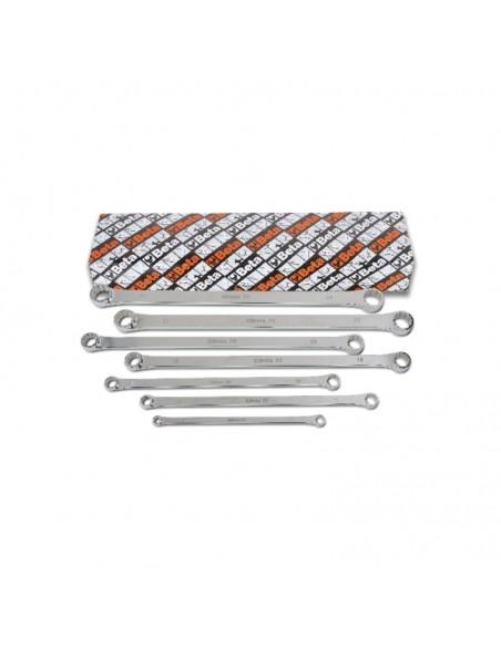 Serie di 7 chiavi poligonali doppie diritte extralunghe 88/S7