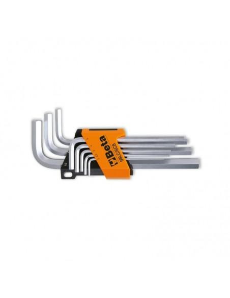 Serie di 8 chiavi maschio esagonale, tipo lungo 96LC/SC8