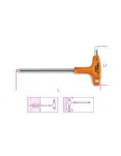 Chiavi maschio esagonale piegate con impugnatura di manovra, in acciaio inossidabile 96TINOX-AS