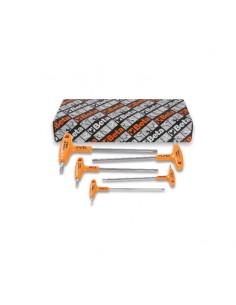 Serie di 5 chiavi maschio esagonale piegate con impugnatura di manovra in acciaio inossidabile 96TINOX/S5