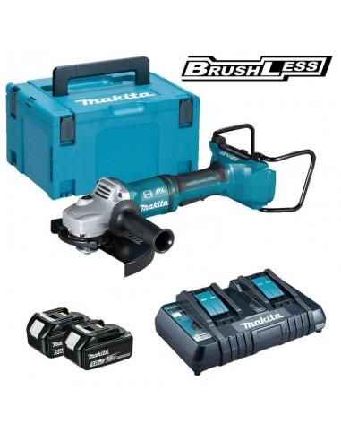 Makita DGA900PT2 Smerigliatrice angolare 36v 2 batterie li-ion 5.0Ah Brushless 230mm