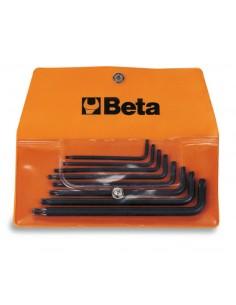 Serie di 8 chiavi maschio piegate per viti con impronta Tamper Resistant Torx® (art. 97RTX) in busta 97RTX/B