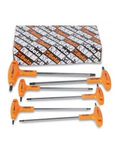 Serie di chiavi maschio piegate con impugnatura per viti con impronta Torx® cromate 97TTX/S
