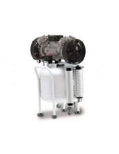 Compressore medicale 50 lt Abac CLR 25/50 T con essiccatore