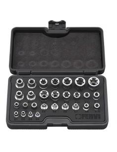 Set chiavi a bussola Torx Fervi 0195 pezzi 28