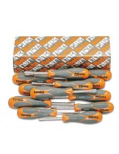 Serie di 12 chiavi a bussola esagonale con impugnatura bimateriale (art. 943BX) 943BX/S