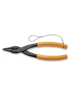 Pinze a becchi diritti per anelli elastici di sicurezza, per fori manici ricoperti in PVC H-SAFE 1032HS