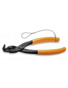 Pinze a becchi piegati a 90° per anelli elastici di sicurezza, per fori manici ricoperti in PVC H-SAFE 1034HS