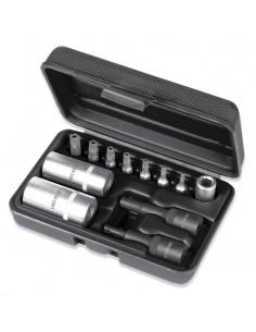 Kit per smontaggio valvole impianto aria condizionata con serie di inserti pentalobati 1483K/12