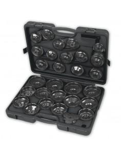 Serie di 28 chiavi a bussola per filtri olio 1493/C30