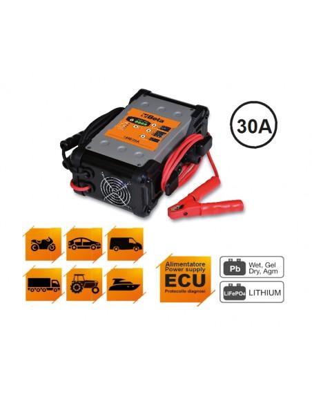 Caricabatterieelettronico 6-12-24V multifunzione 1498/30A