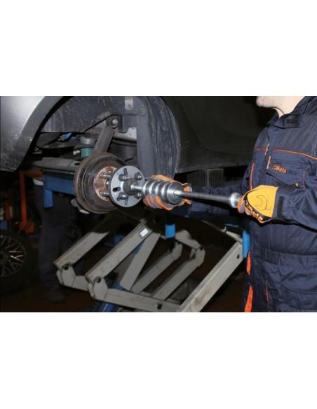 Kit a massa battente con colonnette distanziatrici, per estrazione mozzi e cuscinetti ruote a 3, 4, 5 fori  1530/C16