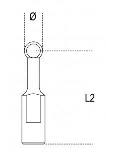 Set di 3 coppie di terminali a falsa sfera 1547KP