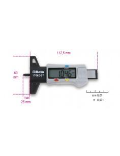 Calibro di profondità digitale per battistrada pneumatici 1706DGT