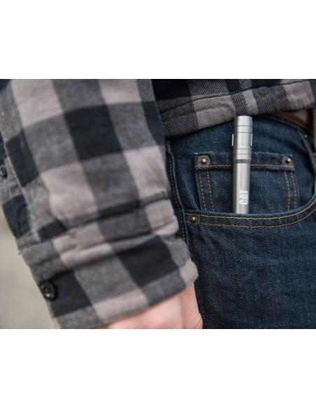 Torcia a penna tascabile batteria Led USB 100 lumen alluminio CAT CT2210