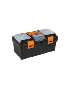 Cestello in materiale plastico con contenitore e vaschette portaminuterie asportabili, vuoto CP15 - 2115
