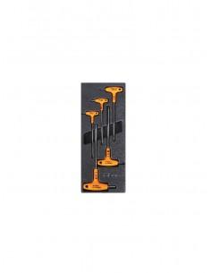 Modulo rigido chiavi maschio esagonale piegate con impugnatura in acciaio inossidabile T57
