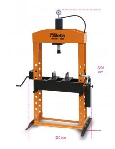 Pressa idraulica con pistone mobileed argano 3027 50