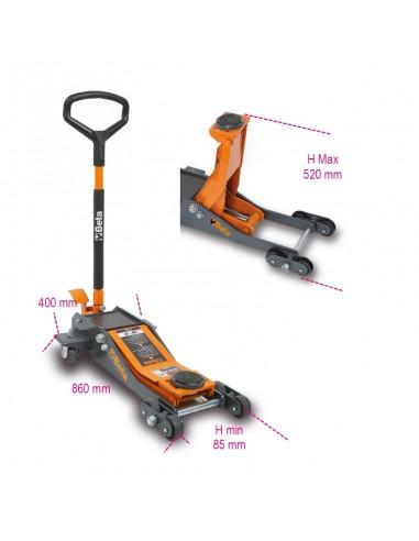 Sollevatore idraulico ribassato 2 t a 6 ruote 3030/2T