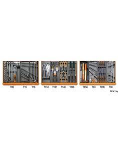 Assortimento di 98 utensili per manutenzioni industriali in moduli rigidi 5904VI/1T
