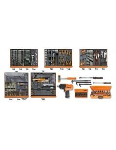 Assortimento di 202 utensili per manutenzioni industriali in moduli rigidi 5910VG/3T