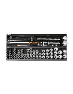 Assortimento 92 utensili, con ganci senza pannello 6600 M/131