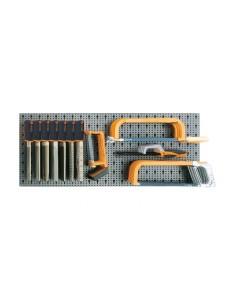Assortimento di 53 utensili, con ganci senza pannello 6600 M/542