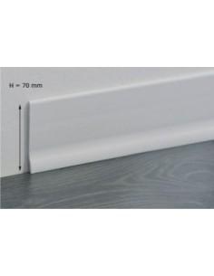 BATTISCOPA IN PVC BIANCO LUNGO 2 mt. h 70 x 9 mm. PZ. 1