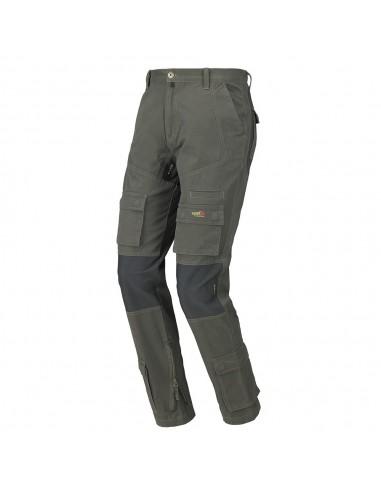 Pantalone da lavoro Issa Line Stretch ON verde multitasche