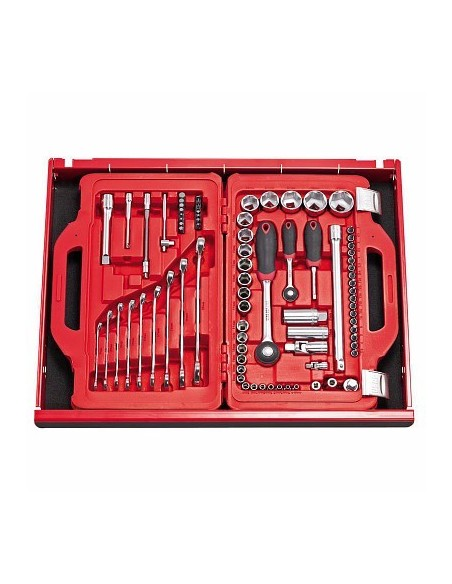 Just Usag 601 1/4-1/2 J82 - Assortimento in cassetta modulare con bussole esagonali e chiavi combinate (82 pz)info
