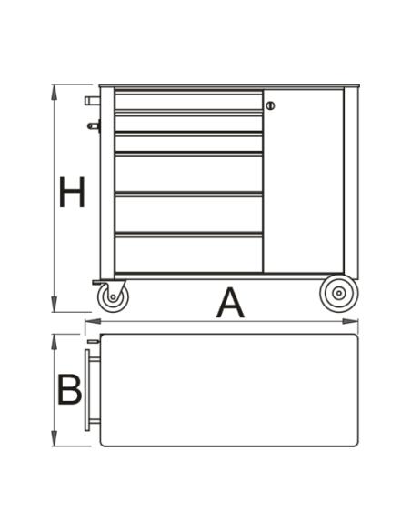 Carrello portautensili Unior serie Hercules 940H22