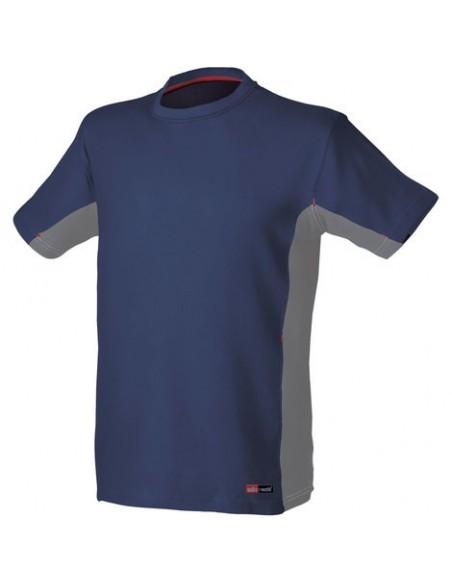 T-Shirt da lavoro Industrial Starter Stretch 08175 colore Blu/Grigio